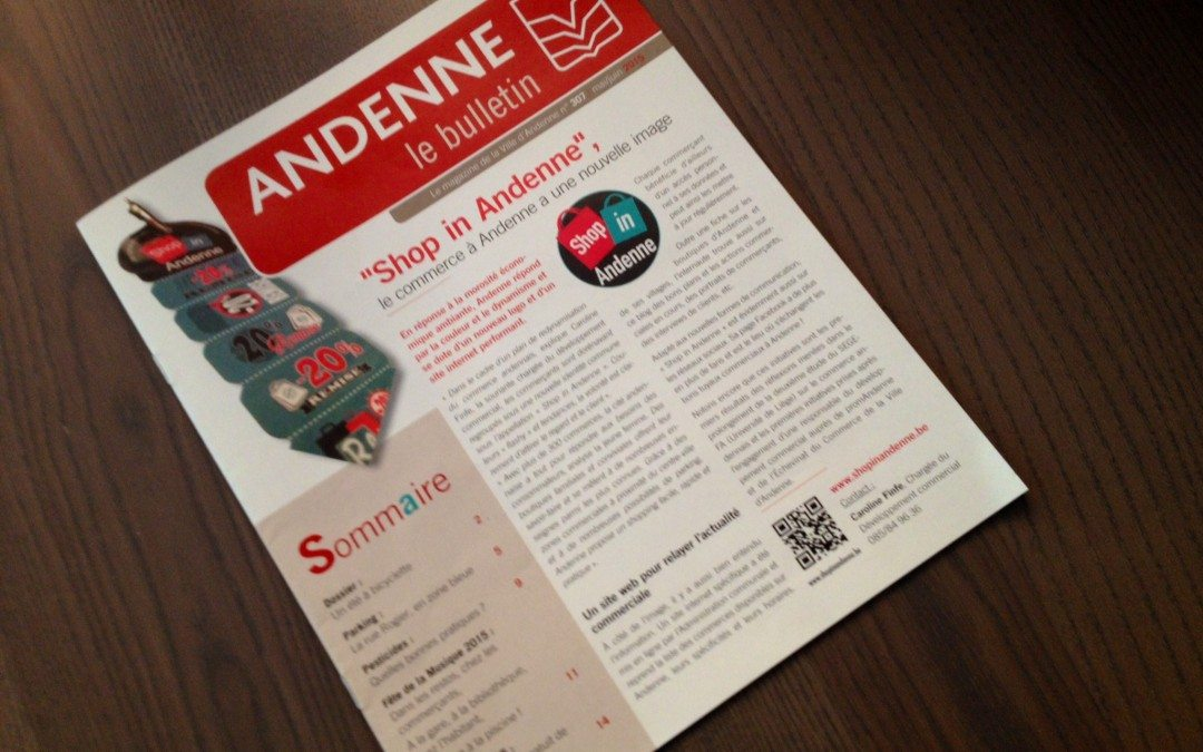 Le bulletin de Shop in Andenne