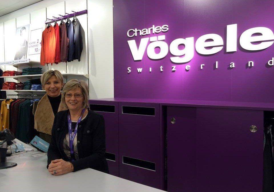 Nouveau look pour le magasin Charles Vogele!