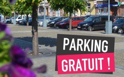 Nouvelle gratuité de stationnement pour 2018 !