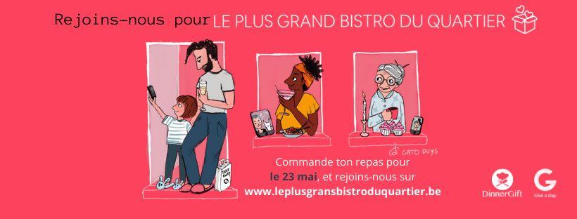 Coronavirus : Appel aux horecas andennais pour «Le Plus Grand Bistro du Quartier»