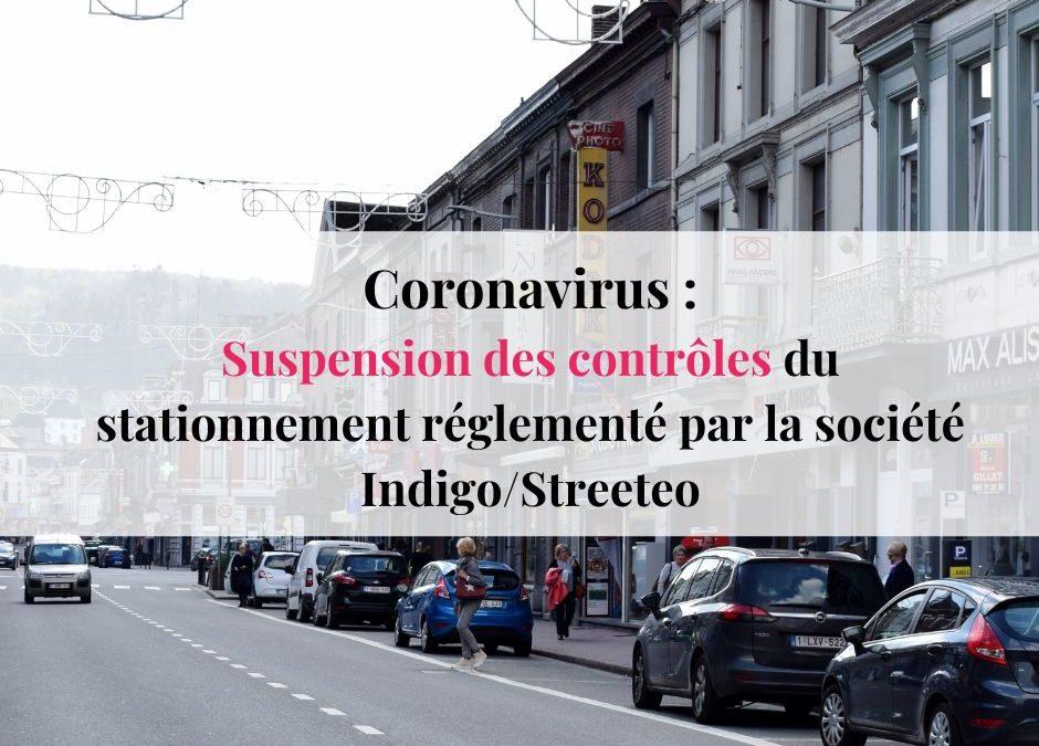 Coronavirus : suspension des contrôles de stationnement de la société indigo