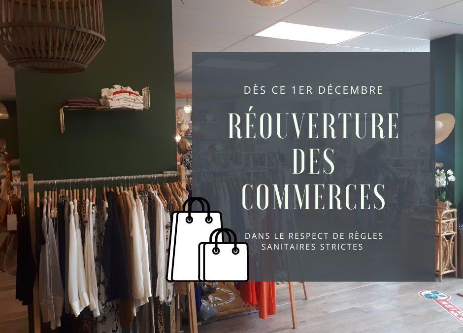 Coronavirus : Réouverture des commerces non essentiels à partir du 1er décembre