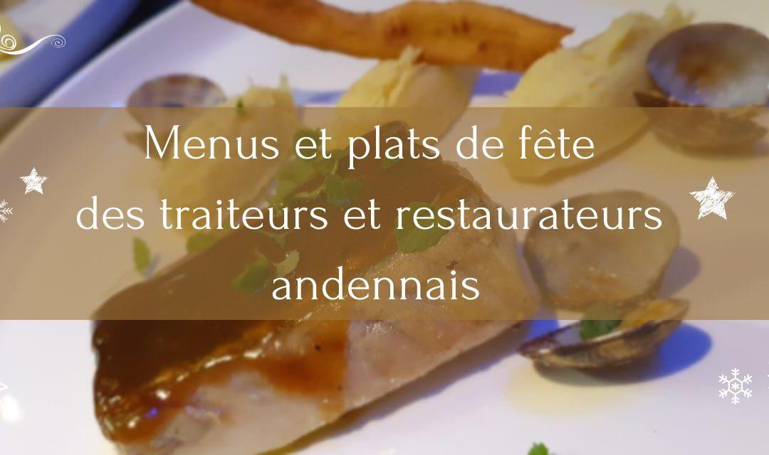 Menu de fêtes des restaurateurs et traiteurs andennais